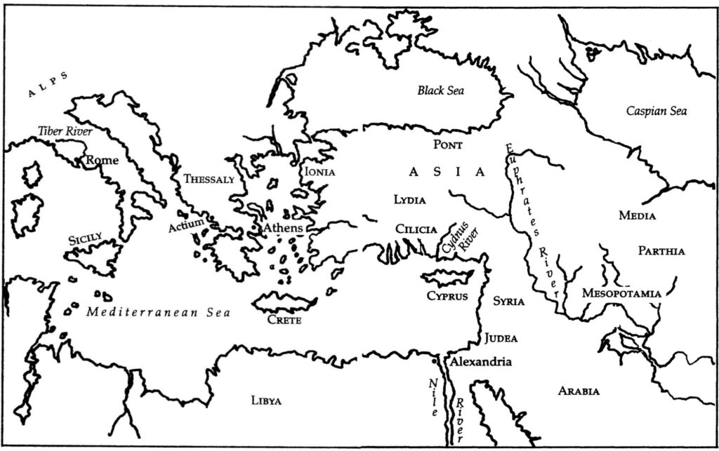 A map of the Roman Empire