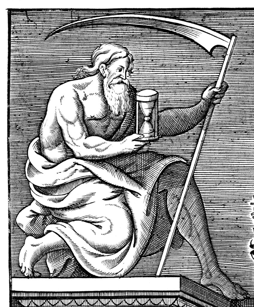 Father Time, from Jean de Serres, A generall historie of France ... (1611).