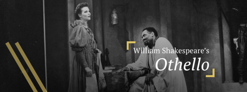 Othello: Desdemona and Othello (portrayed by Paul Robeson) conversing