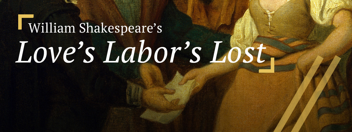 Love's Labor's Lost: Jaquenetta Approaching Sir Nathaniel with Berowne's Letter
